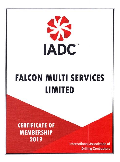 Falcom IADC Certi of Membership 1