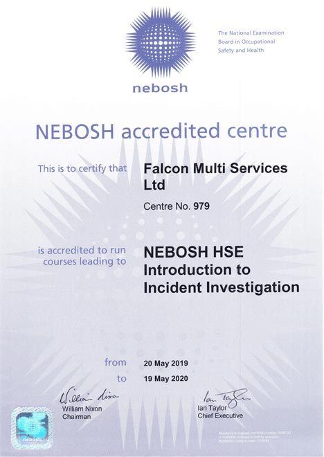 Nebosh Certi introduction to incident