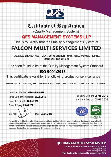 OFS ISO certificate