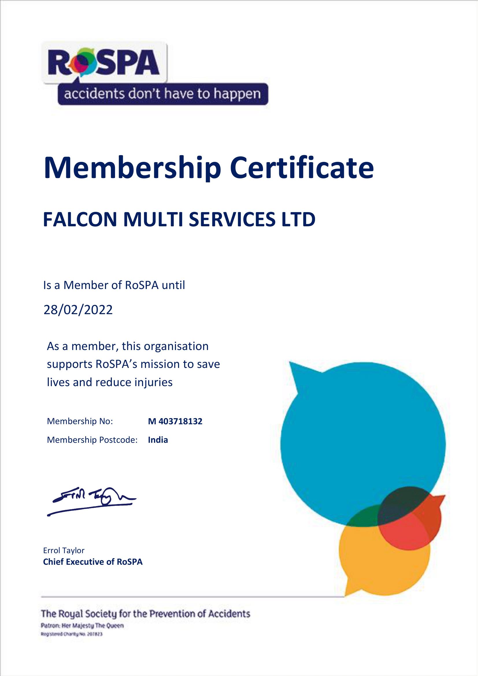 FALCON MULTI SERVICES LTD 1